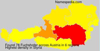 Surname Fuchshofer in Austria