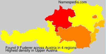 Familiennamen Fuderer - Austria