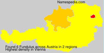 Familiennamen Fundulus - Austria