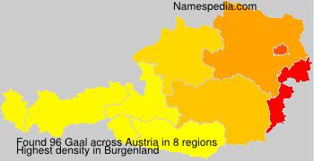 Familiennamen Gaal - Austria