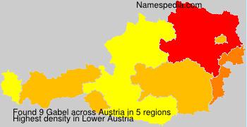 Surname Gabel in Austria