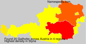 Familiennamen Gailhofer - Austria