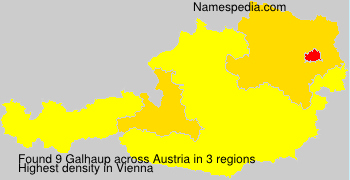 Surname Galhaup in Austria