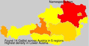 Surname Gallist in Austria
