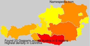 Familiennamen Gasparin - Austria
