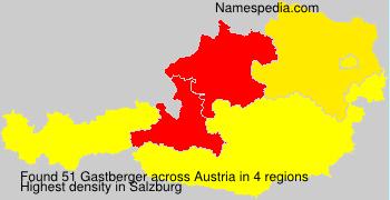 Surname Gastberger in Austria