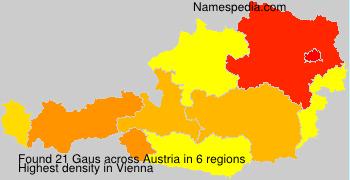 Familiennamen Gaus - Austria