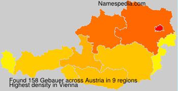 Surname Gebauer in Austria