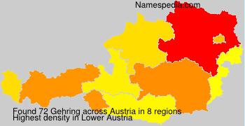 Familiennamen Gehring - Austria