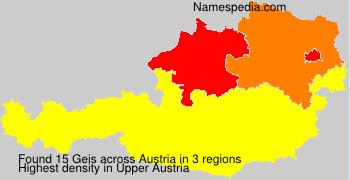 Familiennamen Geis - Austria