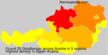 Familiennamen Geistberger - Austria