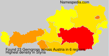 Familiennamen Gerngross - Austria