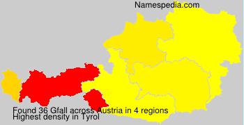 Surname Gfall in Austria