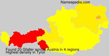 Surname Gfaller in Austria