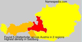 Surname Gfatterhofer in Austria