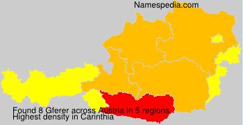Surname Gferer in Austria