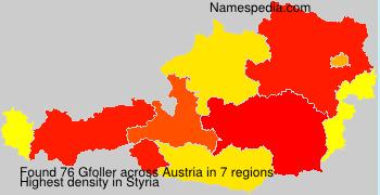 Surname Gfoller in Austria