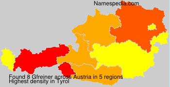 Surname Gfreiner in Austria