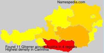 Surname Gfrerrer in Austria