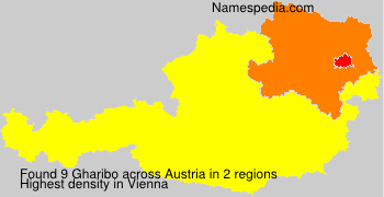 Familiennamen Gharibo - Austria