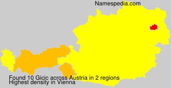 Surname Gicic in Austria