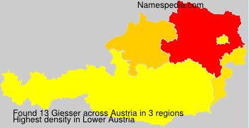 Surname Giesser in Austria