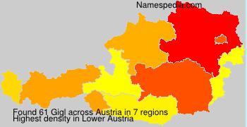 Familiennamen Gigl - Austria