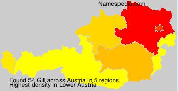 Surname Gill in Austria