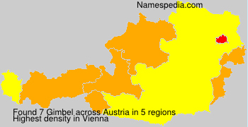 Surname Gimbel in Austria