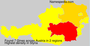 Surname Gines in Austria