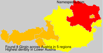 Familiennamen Girgin - Austria