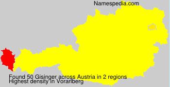 Surname Gisinger in Austria