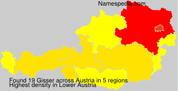Familiennamen Gisser - Austria