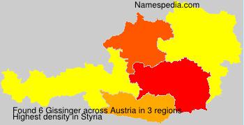 Surname Gissinger in Austria