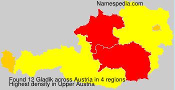 Surname Gladik in Austria