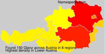 Surname Glanz in Austria