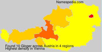 Familiennamen Gloger - Austria