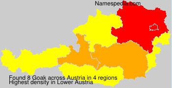 Surname Goak in Austria