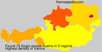 Surname Gogic in Austria
