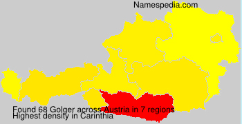 Surname Golger in Austria