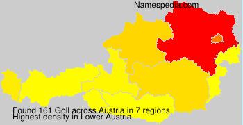 Surname Goll in Austria