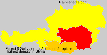 Surname Golly in Austria