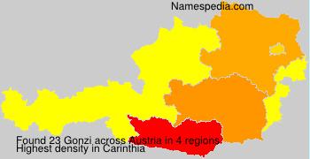 Surname Gonzi in Austria