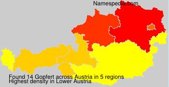 Familiennamen Gopfert - Austria