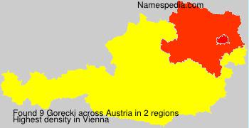 Surname Gorecki in Austria