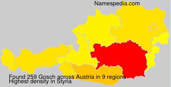 Surname Gosch in Austria