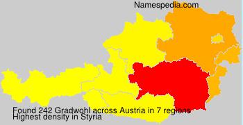 Familiennamen Gradwohl - Austria