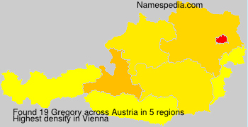 Surname Gregory in Austria