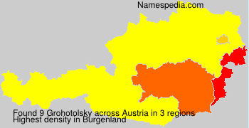 Surname Grohotolsky in Austria