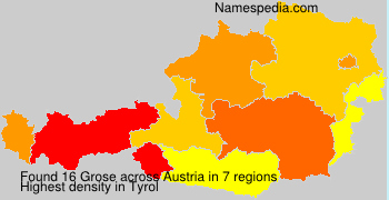 Surname Grose in Austria